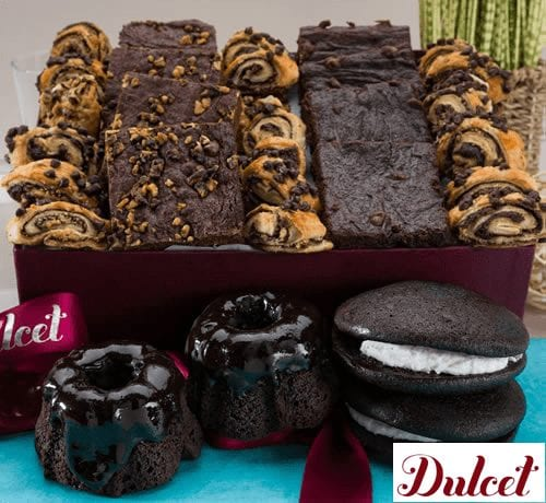Dulcet Chocolate Lovers Brownie Collection Gift Basket