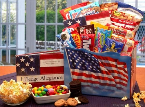 America The Beautiful Patriot Snack Gift Box