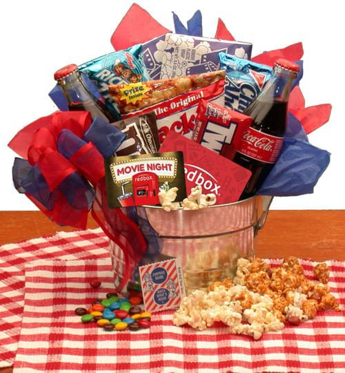 Movie Night Snacks and More Gift Basket