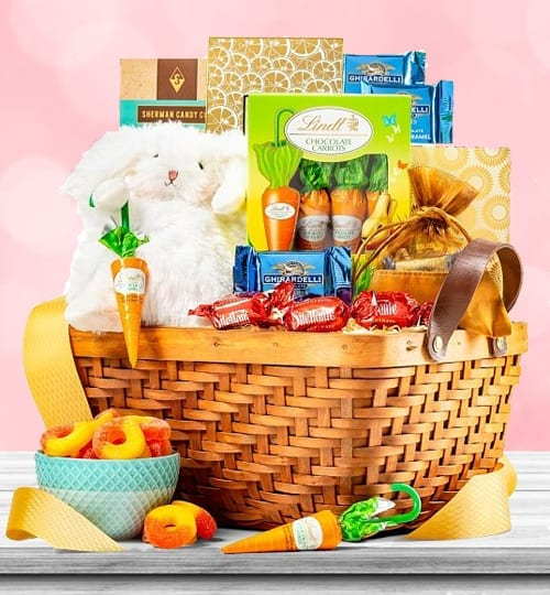 Ghirardelli Chocolate Easter Bunny Gift Basket