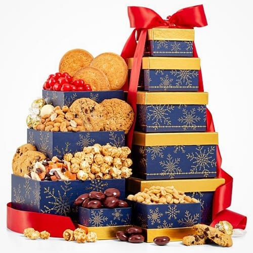 Lindor Truffles Warm Winter Greetings Tower Gift Basket