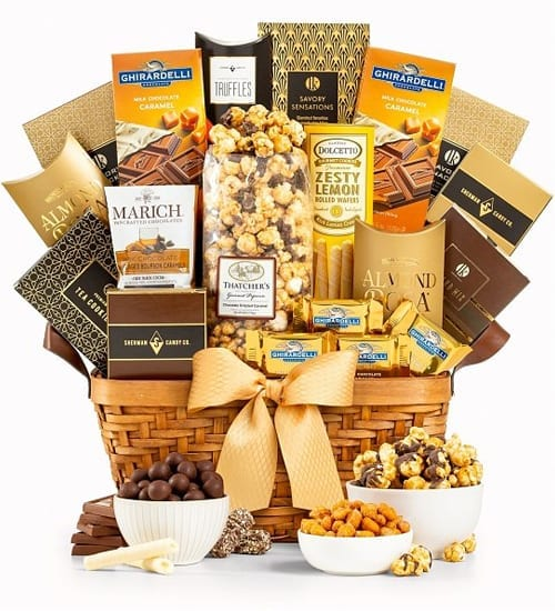 Ghirardelli As Good As Gold Grand Gift Basket