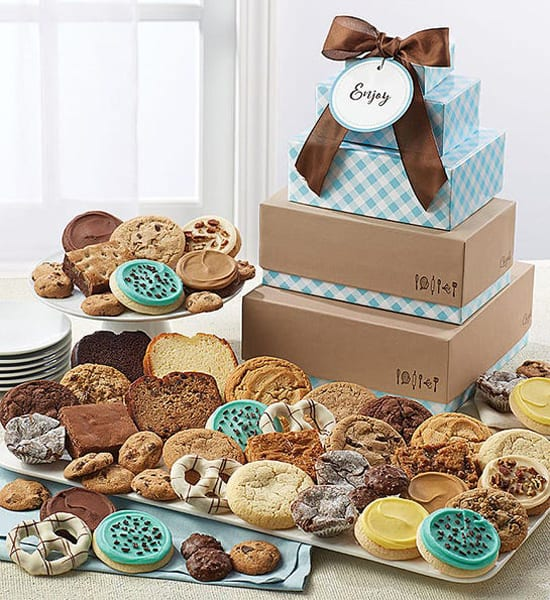 Chocolate Chip New Year 2021 Tower Gift Basket