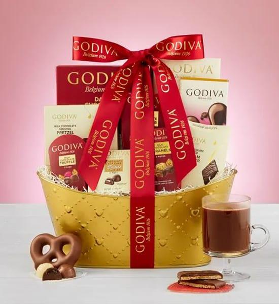 Godiva Valentine Chocolates Grande Gift Basket