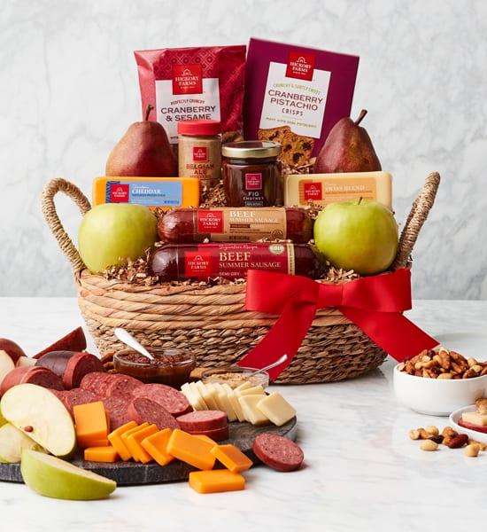 Hickory Farms Premium Farmhouse Cheddar Gift Basket