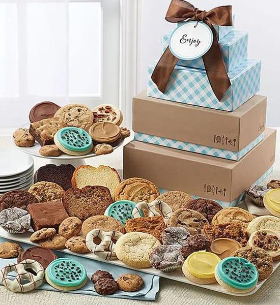 Chocolate Fudge Truffle Cookie Tower Gift Basket