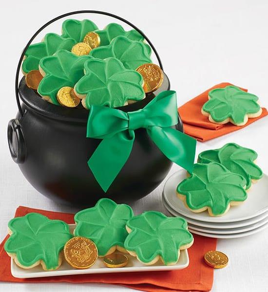 St. Patrick's Buttercream Cookies Pot o'Gold Gift Basket