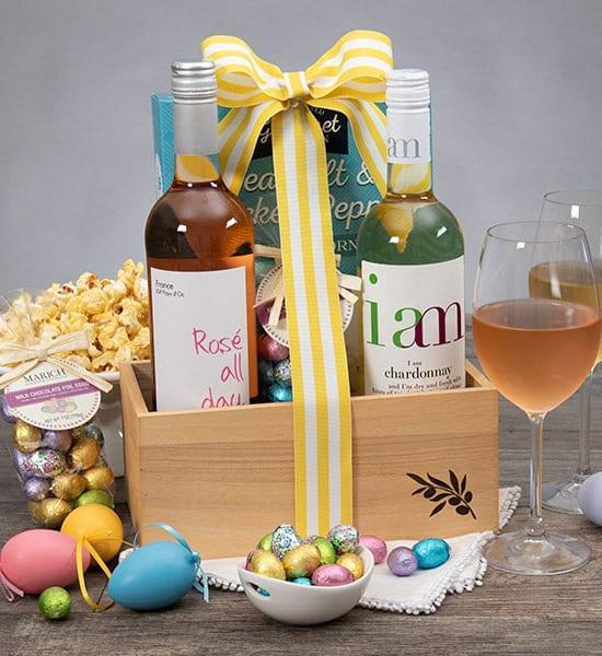 Easter Gourmet Wine Duo Gift Basket