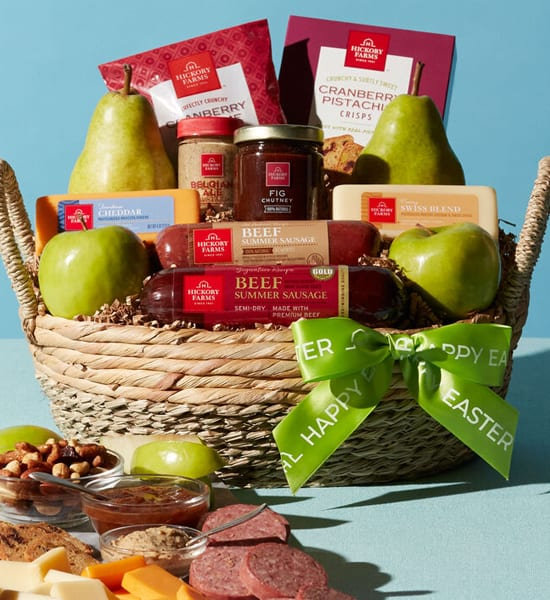 Hickory Farms Easter Fruit & Snack Gift Basket