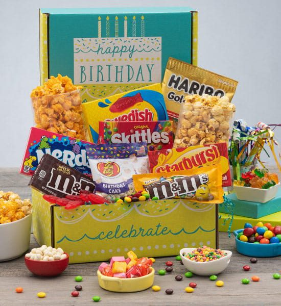 M&Ms Birthday Care Package Gift Basket