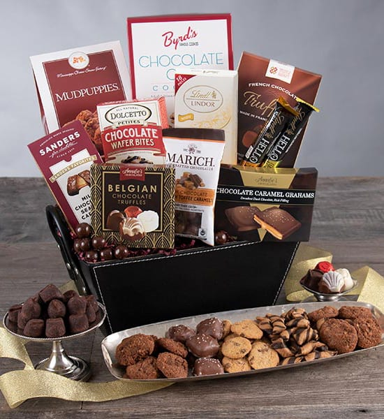 Father's Day Belgian Chocolate Truffles Gift Basket
