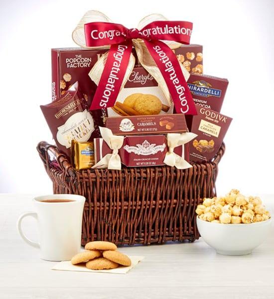 Godiva Caramel Chocolates Congratulations Gift Basket