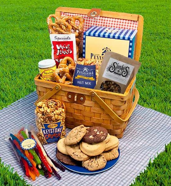 Uncle Jerry's Hard Pretzels Picnic Gift Basket