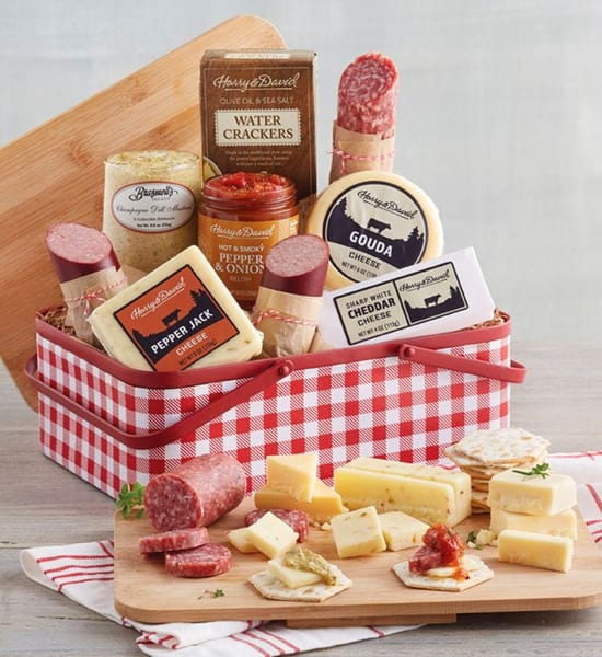 Harry & David Meat & Cheese Picnic Gift Basket
