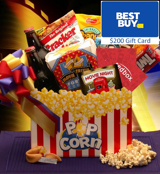 Best Buy Gift Card & Movie Madness Gift Basket Giveaway