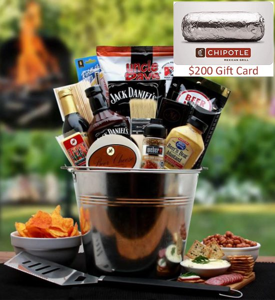 Chipotle Card & BBQ Lovers Pail Gift Basket Giveaway
