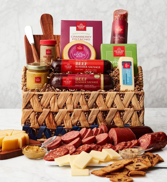 Hickory Farms Picnic Charcuterie Essentials Gift Basket